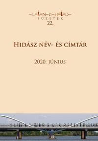 Lánchíd füzetek 22. – Hidász név- és címtár (2020. június)