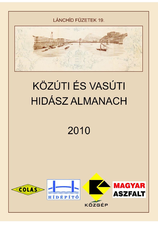 Lánchíd füzetek 19. – Közúti és vasúti hidász almanach 2010